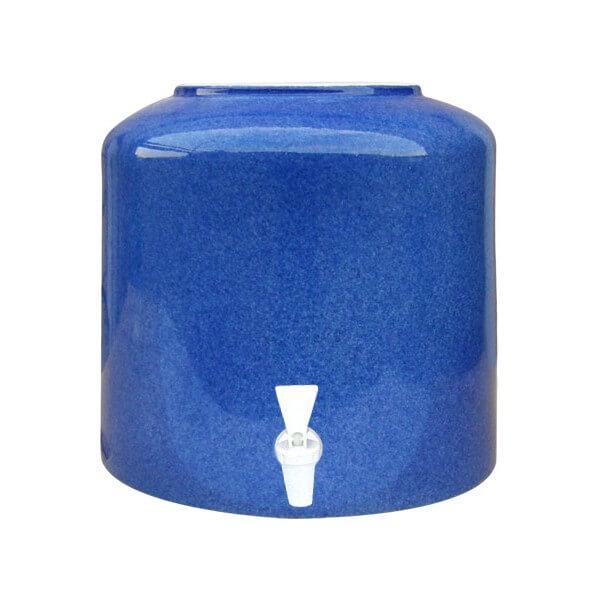 Керамический диспенсер для воды «Мрамор синий» фото