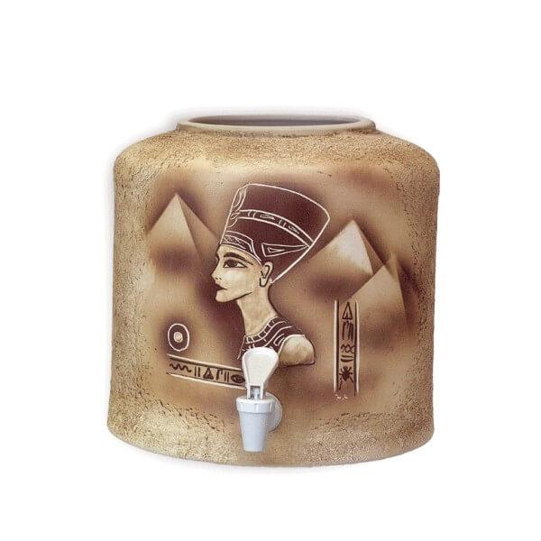 Керамический диспенсер для воды «Нефертити» шамот фото