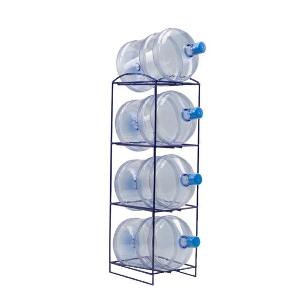 Подставка-стойка металлическая на 4 бутыли, прут, фото