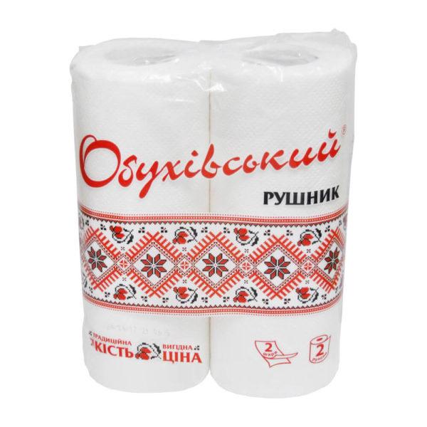 Бумажные полотенца Обухівський рушник, 2 рулона, фото