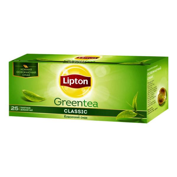 Чай зеленый Lipton Greentea Classic, 25 пакетиков, фото