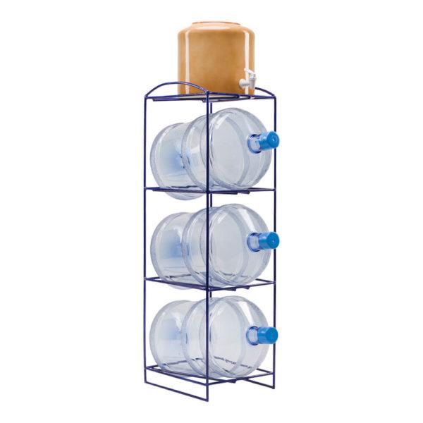 Подставка металлическая под 3 бутыли и диспенсер, фото