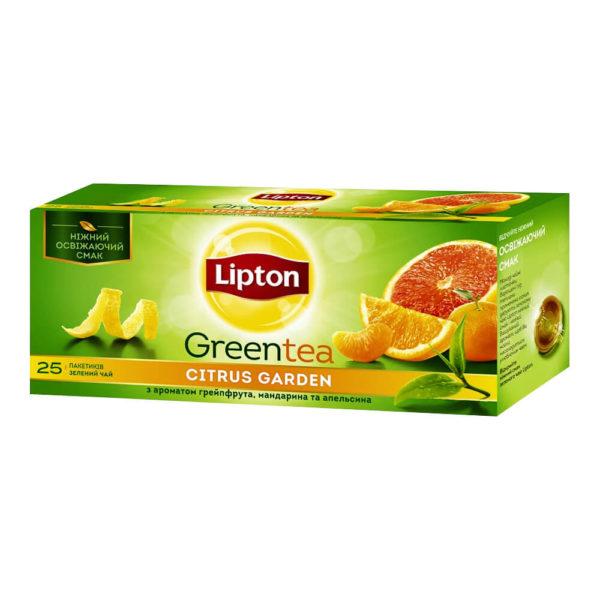 Чай зеленый Lipton Greentea Citrus Garden, 25 пакетиков, фото