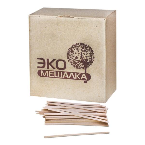Мешалки-палочки деревянные Эко 12 см, 1000 штук