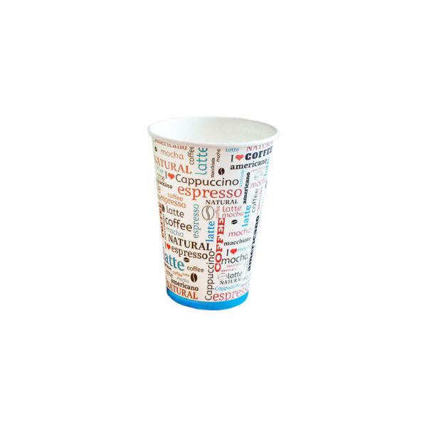 Одноразовый стакан бумажный 500 мл цветной